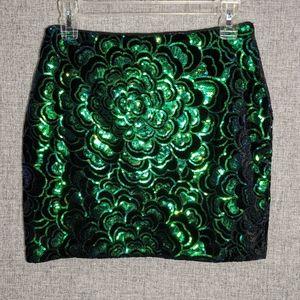 H&M Irradescant Multi-Color Mini Skirt
